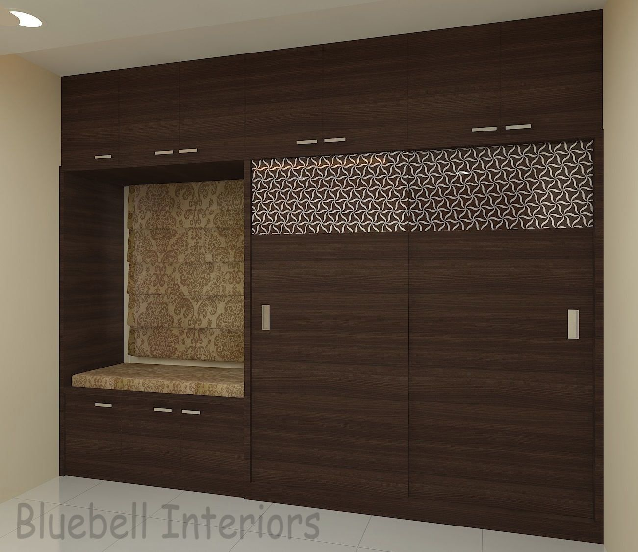 Wardrobe With Window Settee Glass Design On Wardrobe Shutter Brown Wardrobe 1000 In 2020 Bedroom Closet Design Bedroom Furniture Design Bedroom Door Design