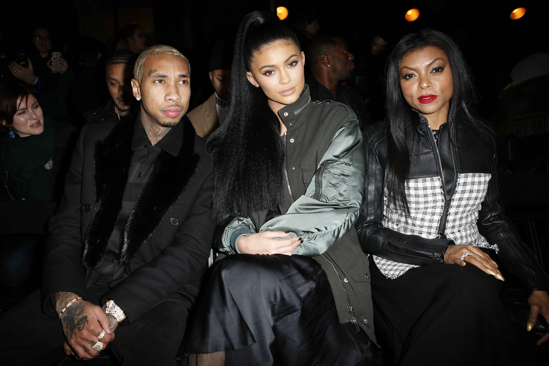 Tyga, Kylie Jenner, and Taraji P. Henson at Alexander Wang