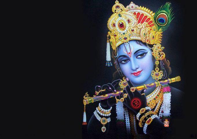 Lord Krishna Wallpaper Free Download Black Background Lord Krishna Wallpapers Krishna Images Krishna Wallpaper
