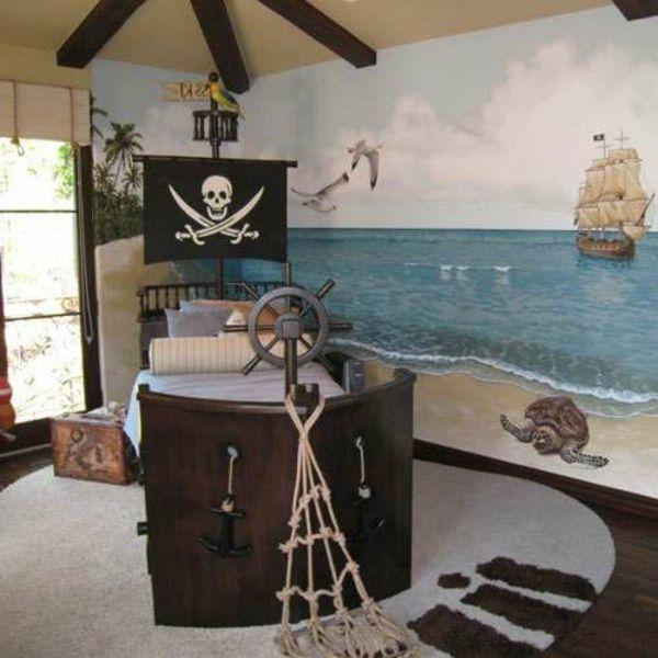 Kinderbett Selber Bauen Pirat Interessante Wandgestaltung