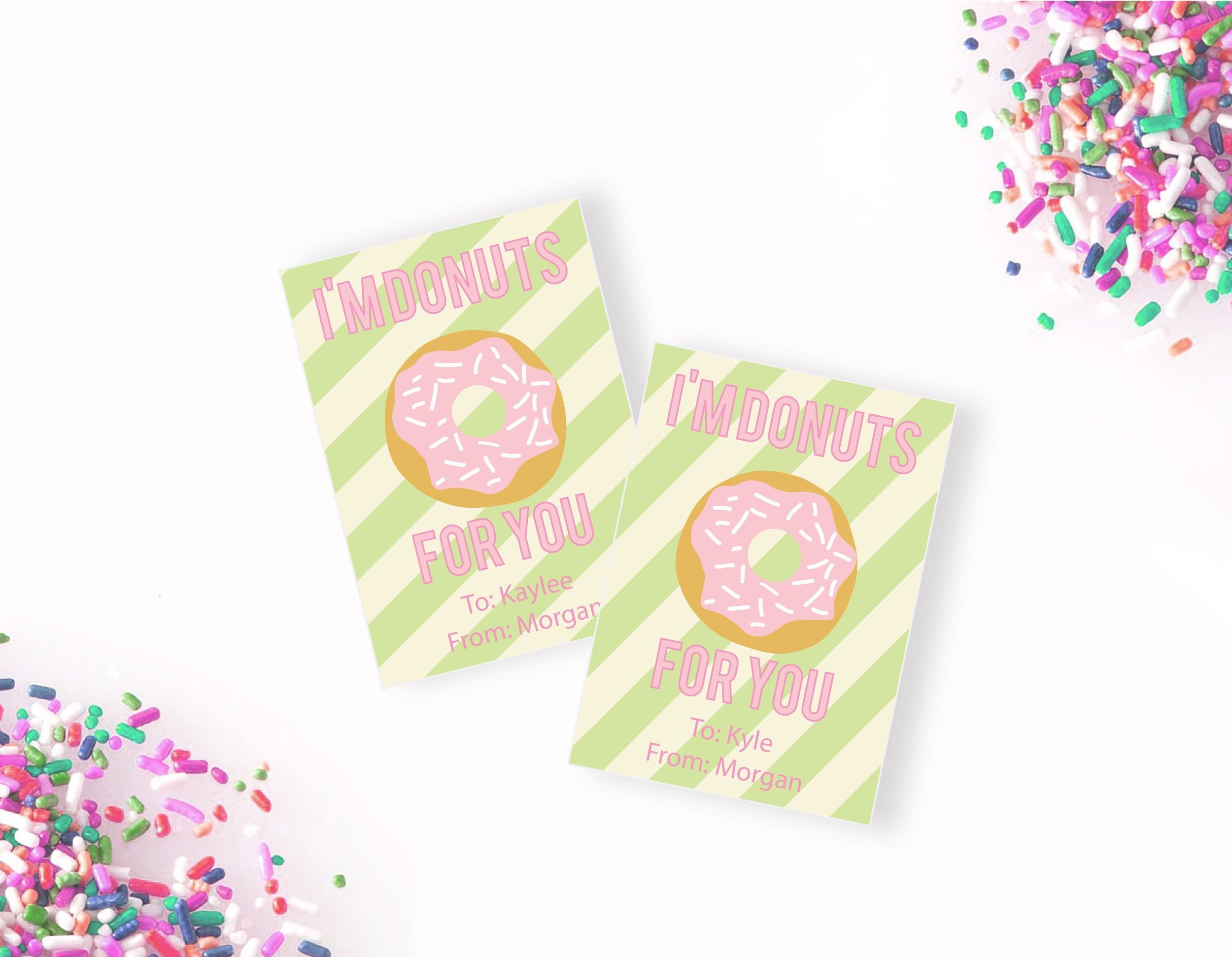 I'm Donuts for You Valentine, Printable