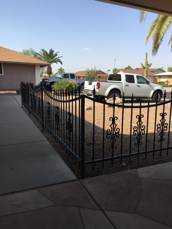 Black iron fence Iron fence, Black iron, Iron