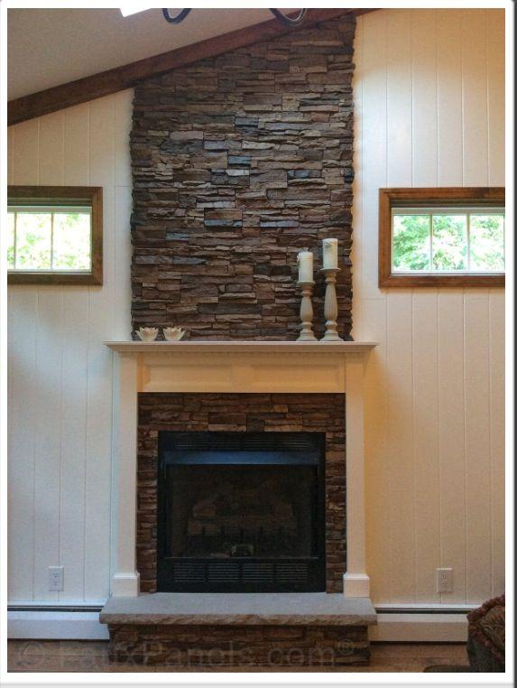 Diy Faux Rock Fireplace Fireplace Faux Panels Stone Siding
