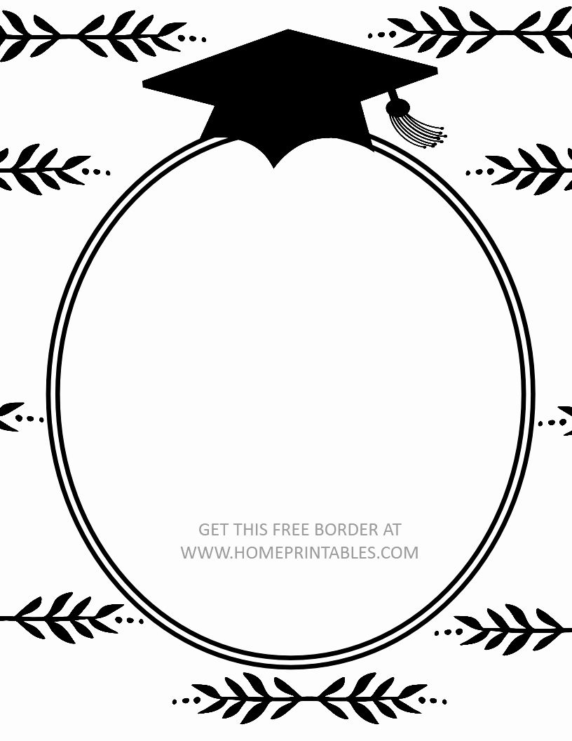 Photo of Free Graduation Printables New 15 Free Graduation Borders with 5 New Designs