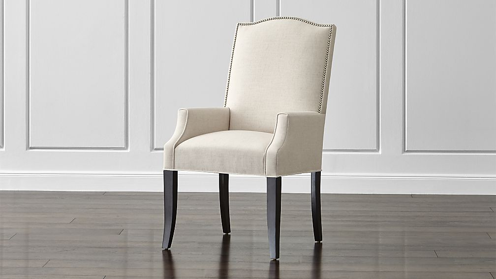 Colette II Upholstered Dining Arm Chair | Dining, Crates and Arms