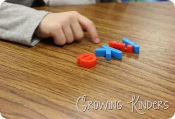 spelling out sight words with letters