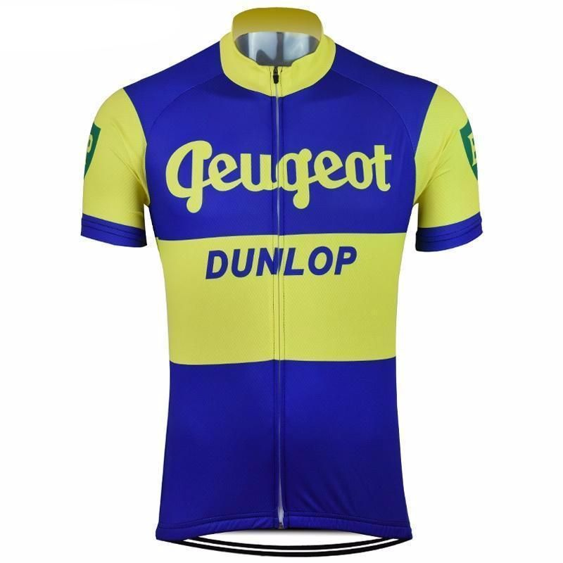 Retro Team PEUGEOT Vintage Cycling Jersey Black White