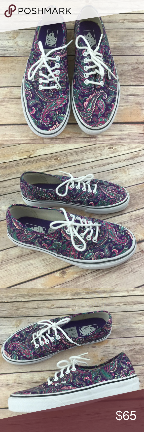 92d26da94f23d8 Vans Purple Paisley Classic Shoes NEW RARE Love love love these. They were  super hard to get. Took me awhile to get my hands on them. These are a  tight 9.