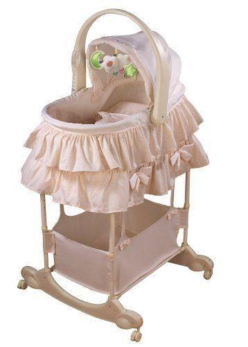 Bassinet Cradle Baby First Vibration Portable Bed Nursery Crib Sleeper  Furniture