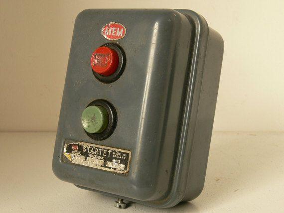 Vintage Mem Startett Machine Switch Box 1940 S Very Etsy Date And Switch Switch Vintage