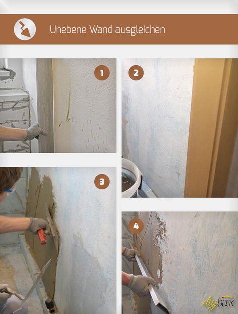Unebene Wand ausgleichen Wand - küchenpaneele selber machen