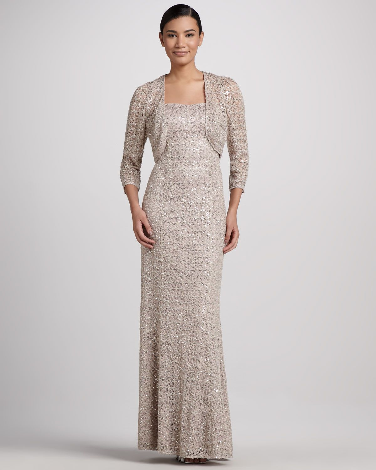Kay unger new york strapless gown sheer sequined lace bolero kay unger new york strapless gown sheer sequined lace bolero neiman marcus ombrellifo Image collections