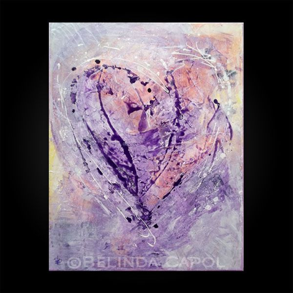Heart love art abstract paintings artwork by belinda capol