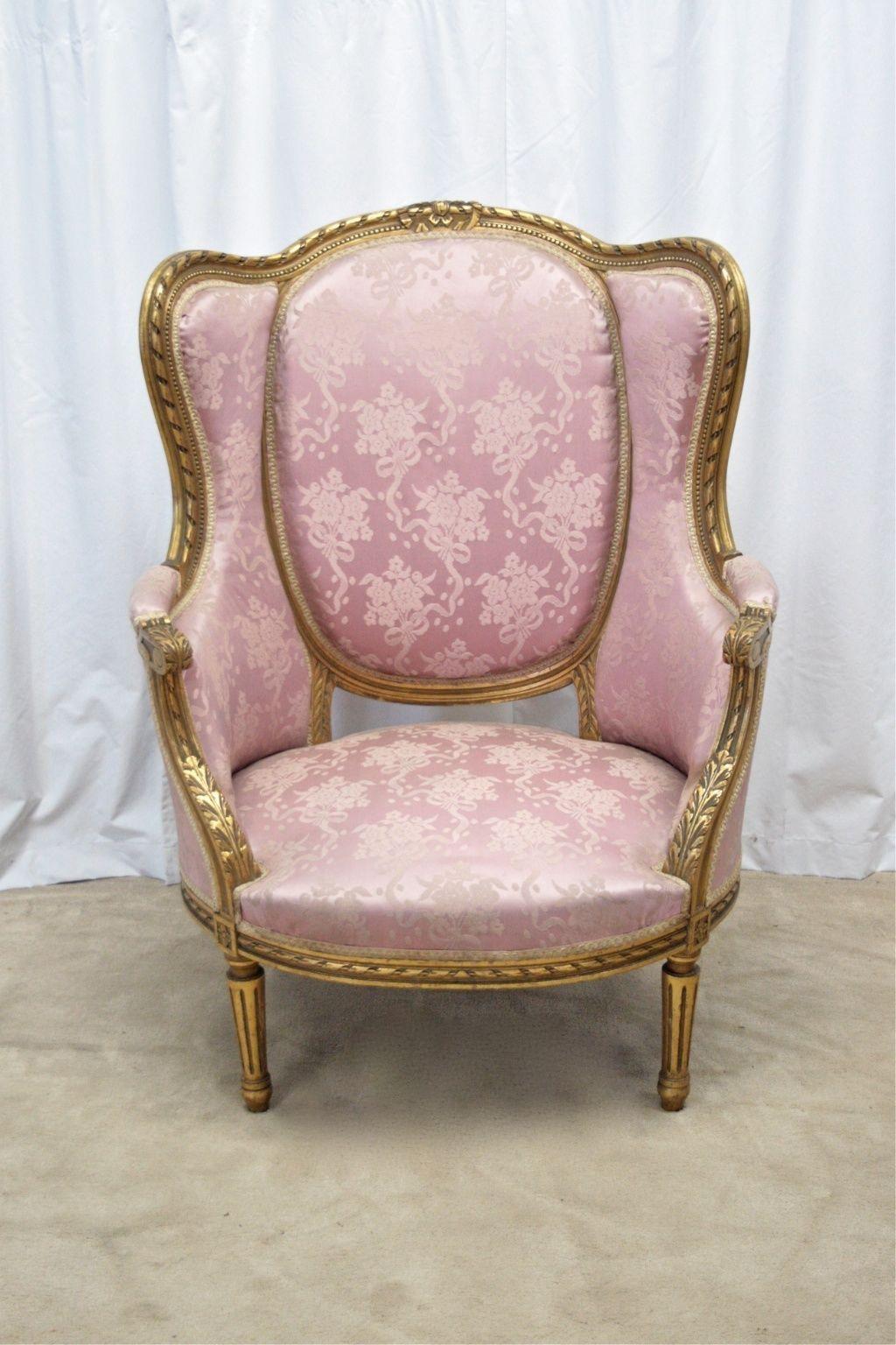 French Gilt Wood Armchair   eBay