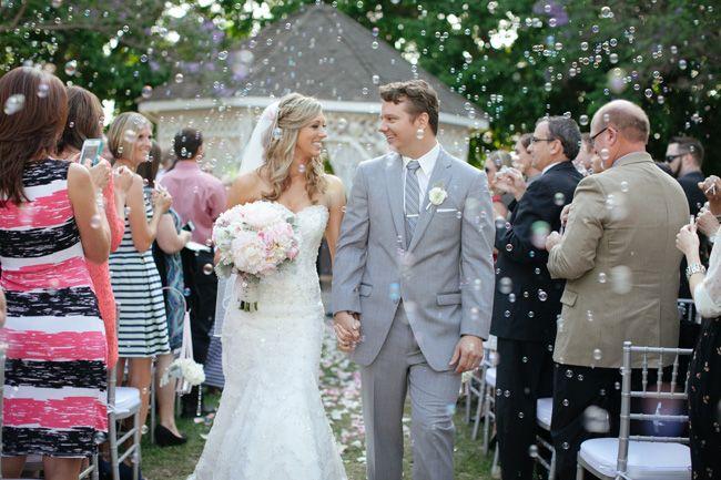 Bubble Recessional Wedding Ceremony Bubbles Peonies Pink Details Frenzelstudios