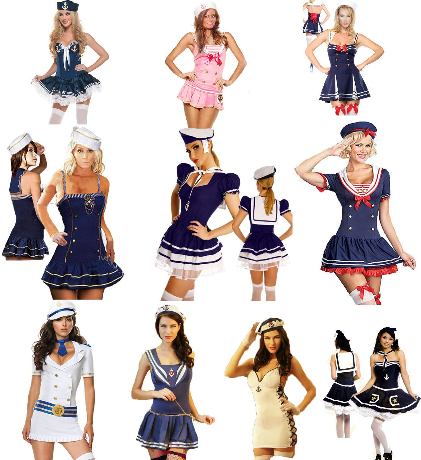 Sailor Fancy Dress Costume Party Outfit Hen Night Nautical