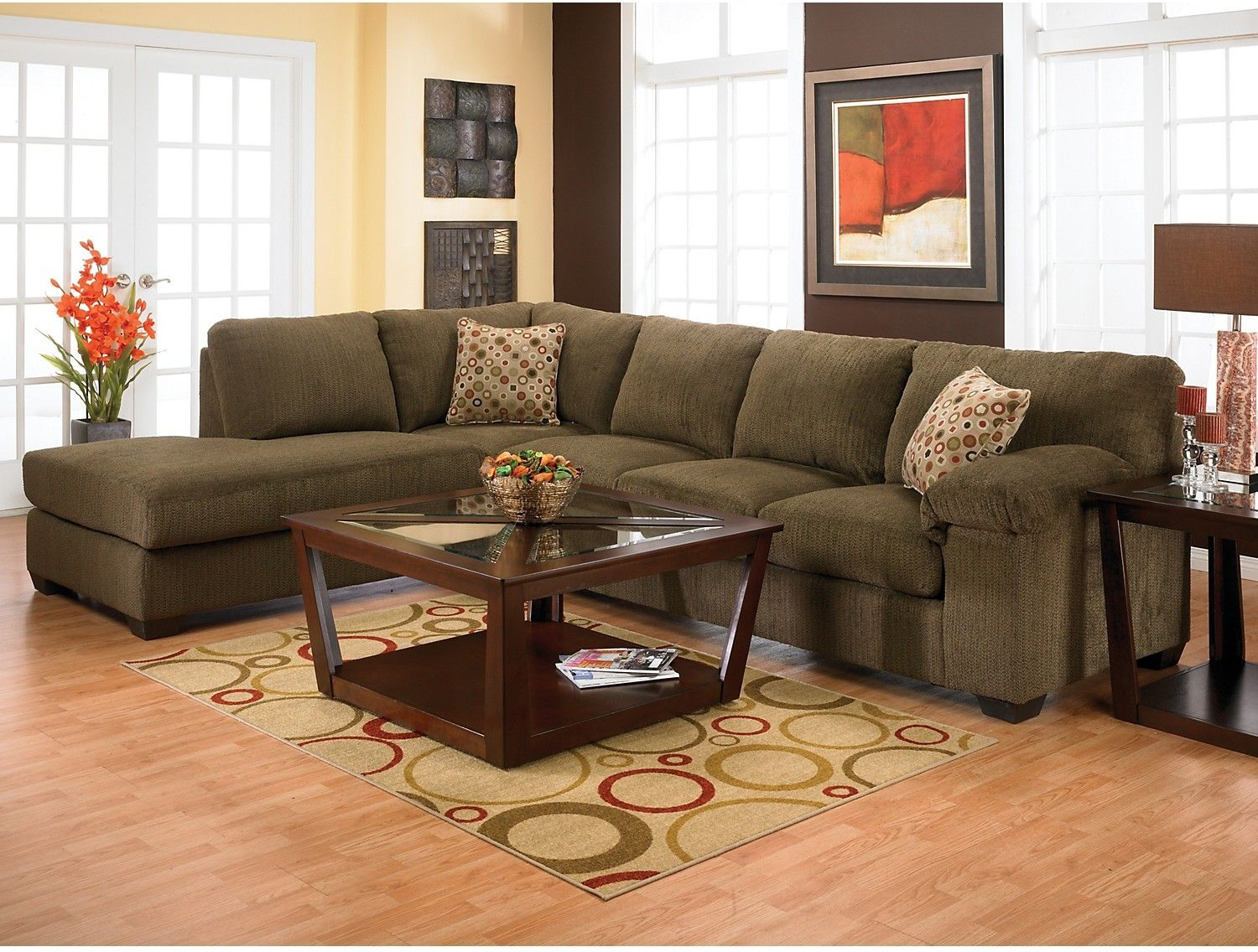 Chenille Sectional Sofa In 2020 Sectional Sofa With Chaise Contemporary Living Room Sectional Apartment Size Sofa