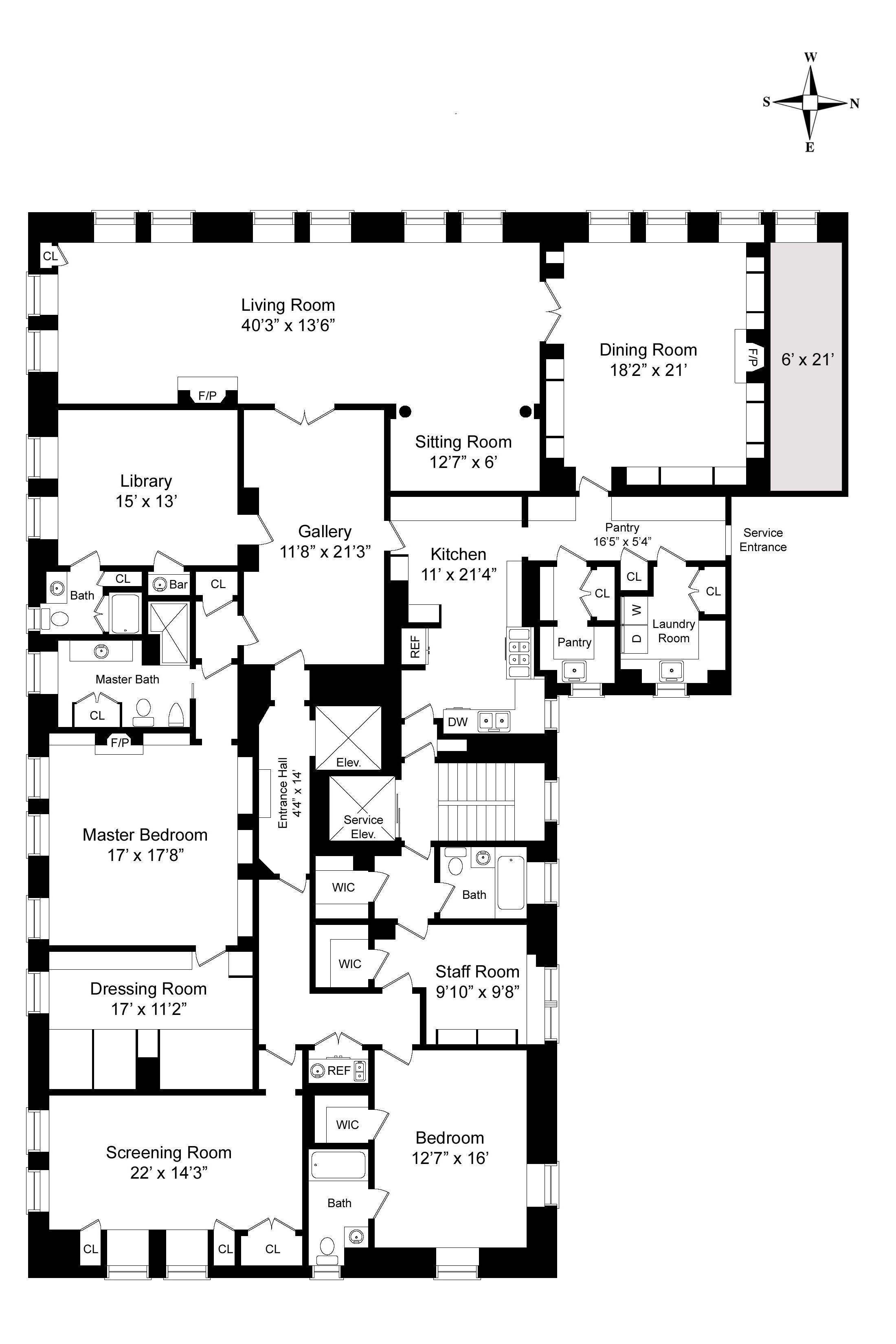 Floorplan For Howard Slatkin Fifth Avenue Apartment Condo Floor Plans Apartment Floor Plans House Floor Plans