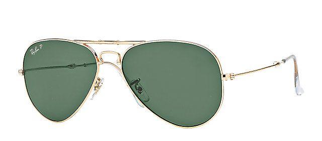 b2b227e386 Ray-Ban RB3479 001 58 58-14 AVIATOR FOLDING Gold sunglasses ...