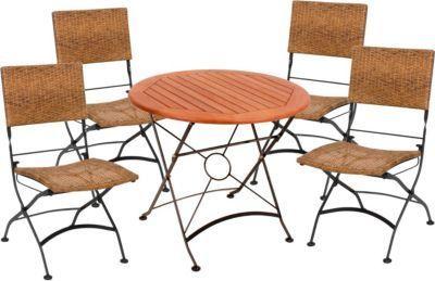 Hervorragend GardenPleasure Sitzgarnitur Graz Ø 5.tlg Tisch Klappstuhl Holz Gartenmöbel  Set Jetzt Bestellen Unter: