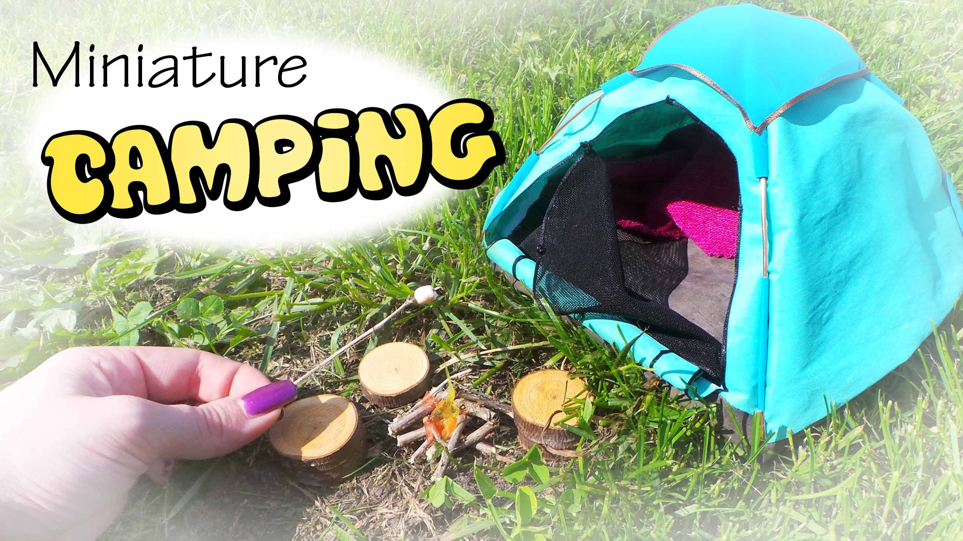 Miniature Camping Tent & Campfire Tutorial Dolls Dolhouse