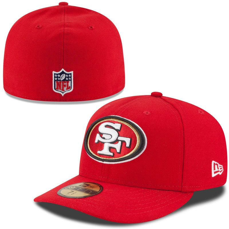 San Francisco 49ers New Era On-Field Low Crown 59FIFTY Fitted Hat - Scarlet 86a12ad9904b