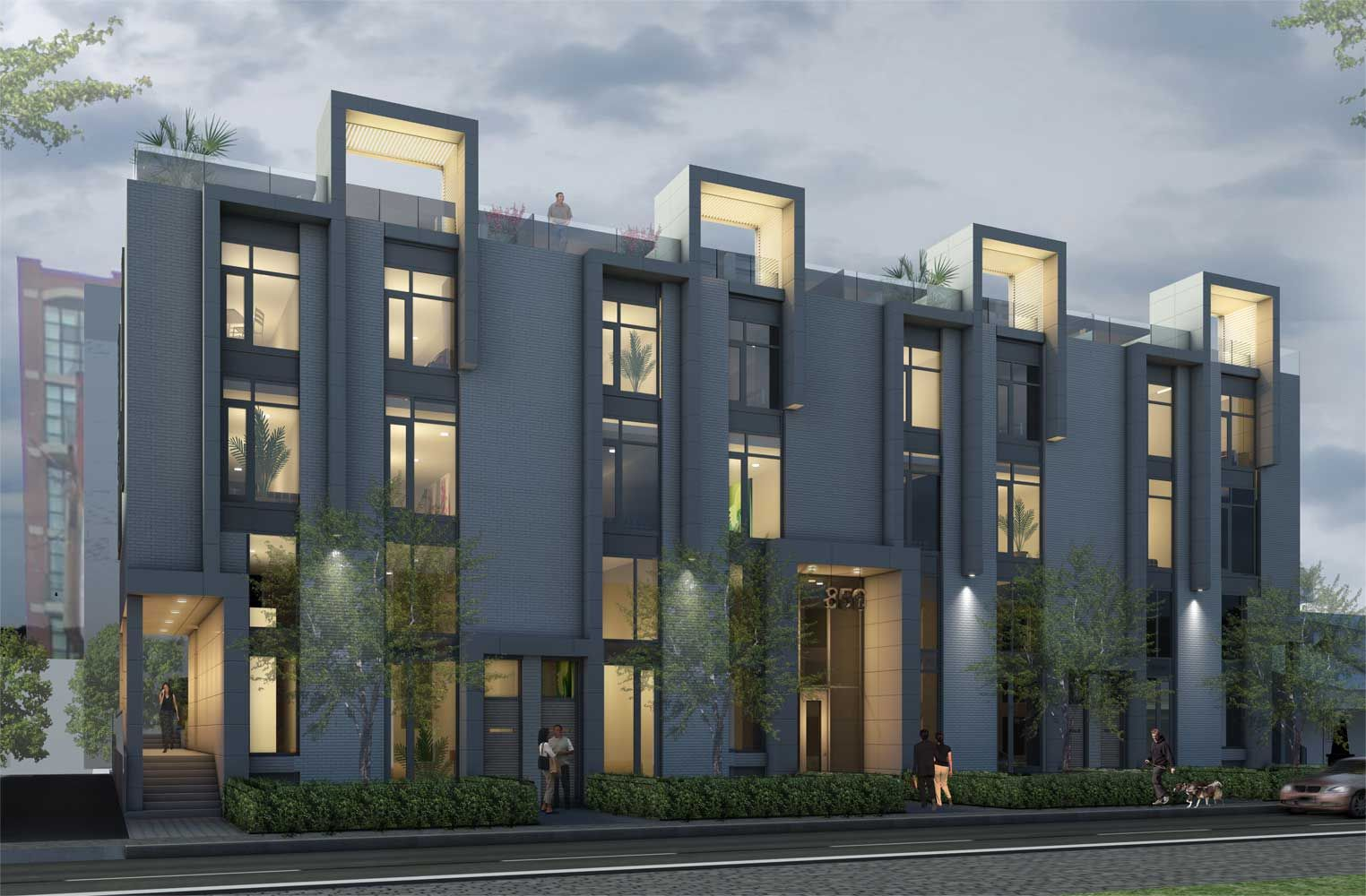 Toronto modern townhomes edition richmond s u g a r m for Modern townhouse architecture