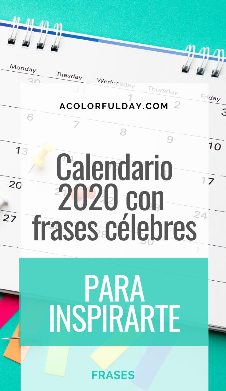 Calendario 2020 con Frases Célebres (para mantenerte