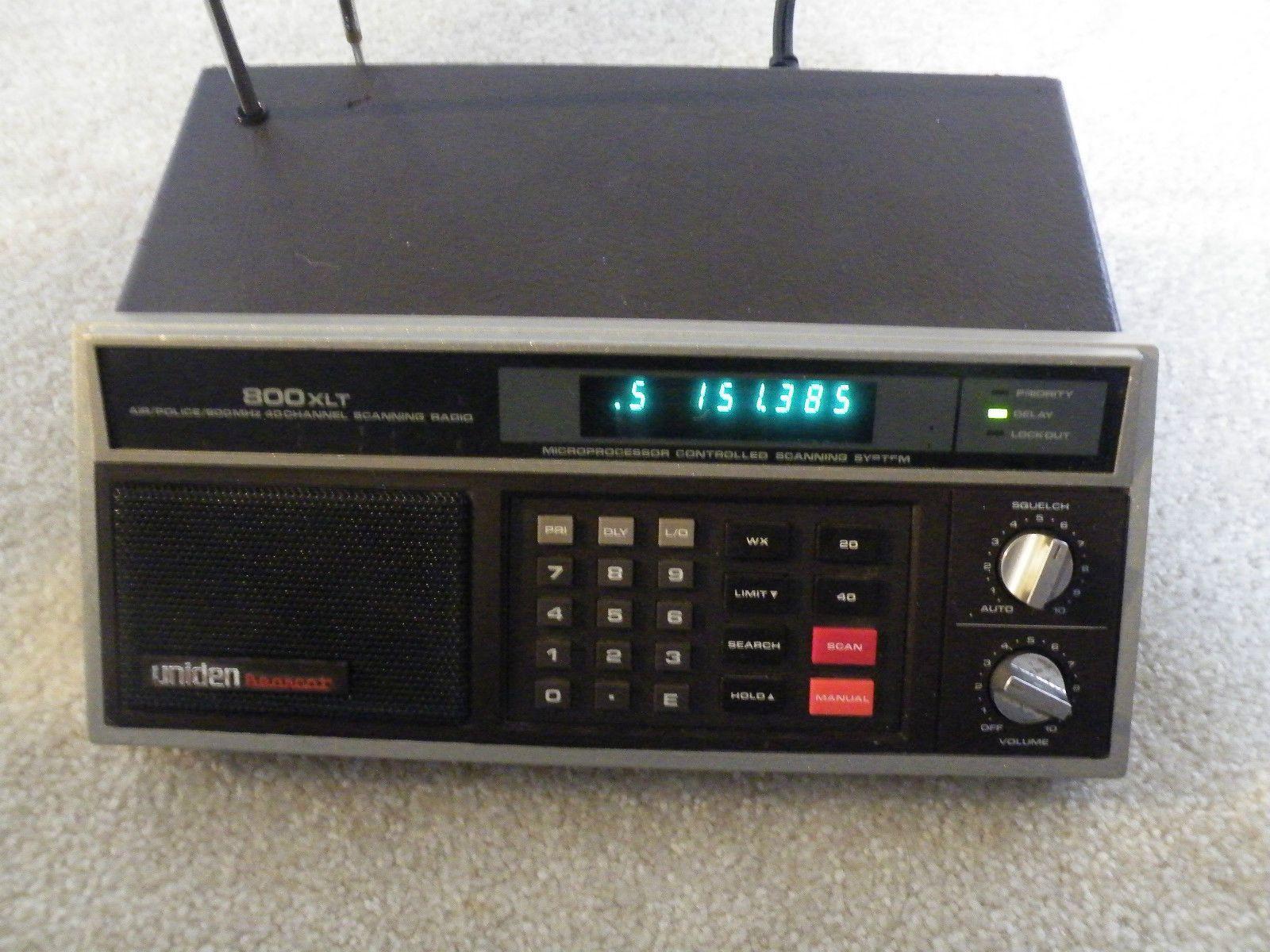 The Uniden-Bearcat 800XLT Scanner.