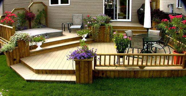 Patio plus patio avec spa int gr balcon pinterest for Spa et patio