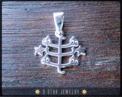 BPS7 - Sterling silver Baha'i Ringstone Symbol Pendant #bahai #bahaijewelry #9starjewelry