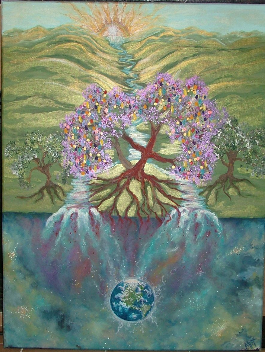 "Painting ""Tree of Life"" (Rev. 22:1-2, Isaiah 55:9-11) Artwork by ..."