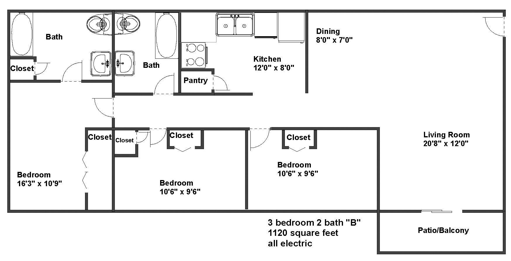 50 1000 Sq Ft House Plans 3 Bedroom Qp3m di 2020