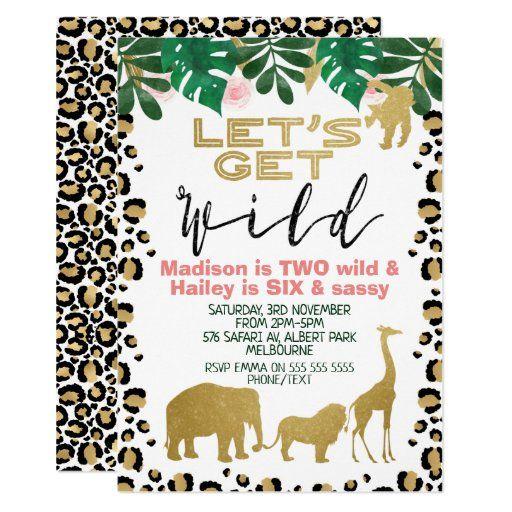530 jungle birthday party invitations