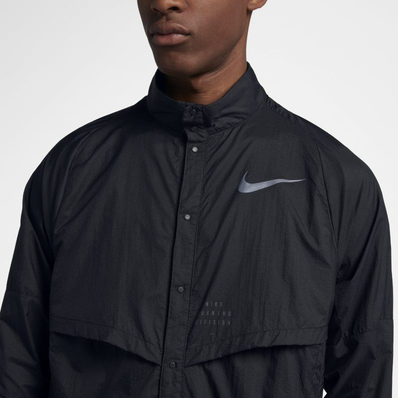 aff92f26edf3d8 Nike Run Division Men s Running Jacket - Black