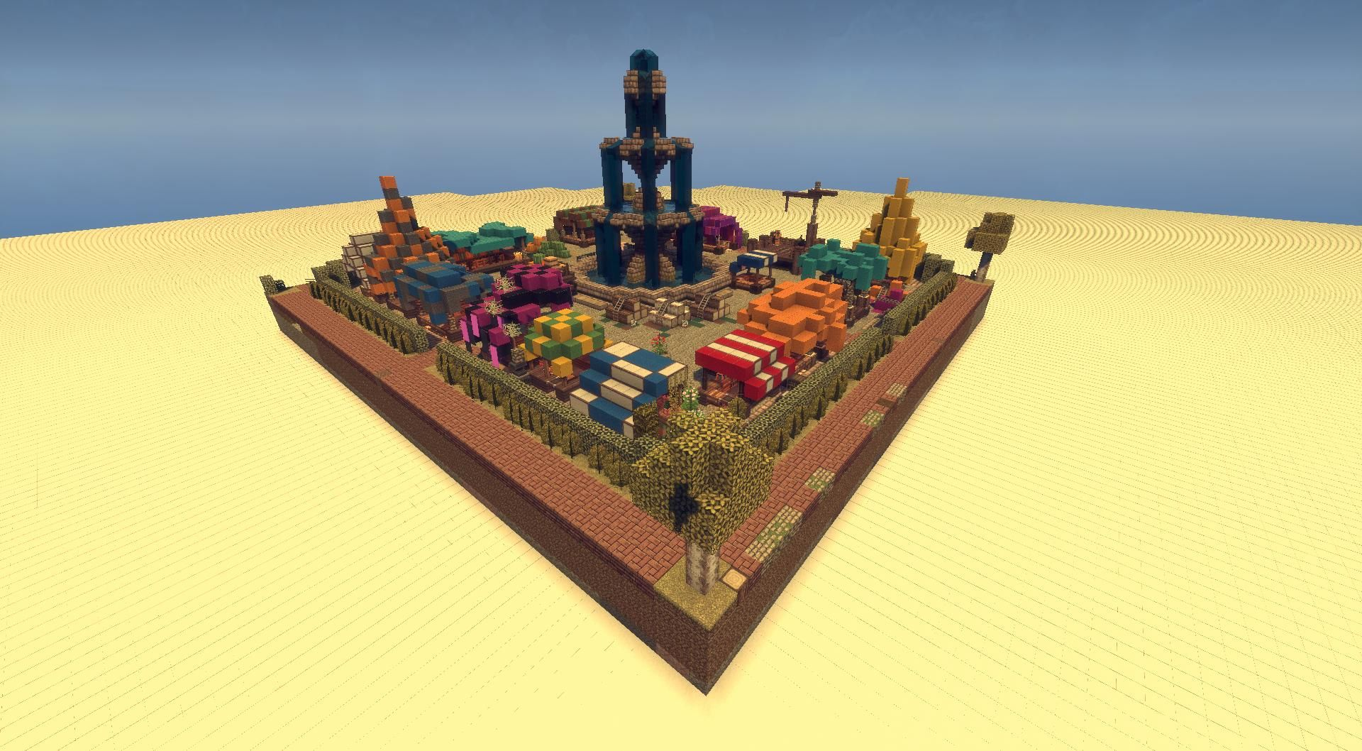 Schematic Medieval Marketplace Minecraft Project