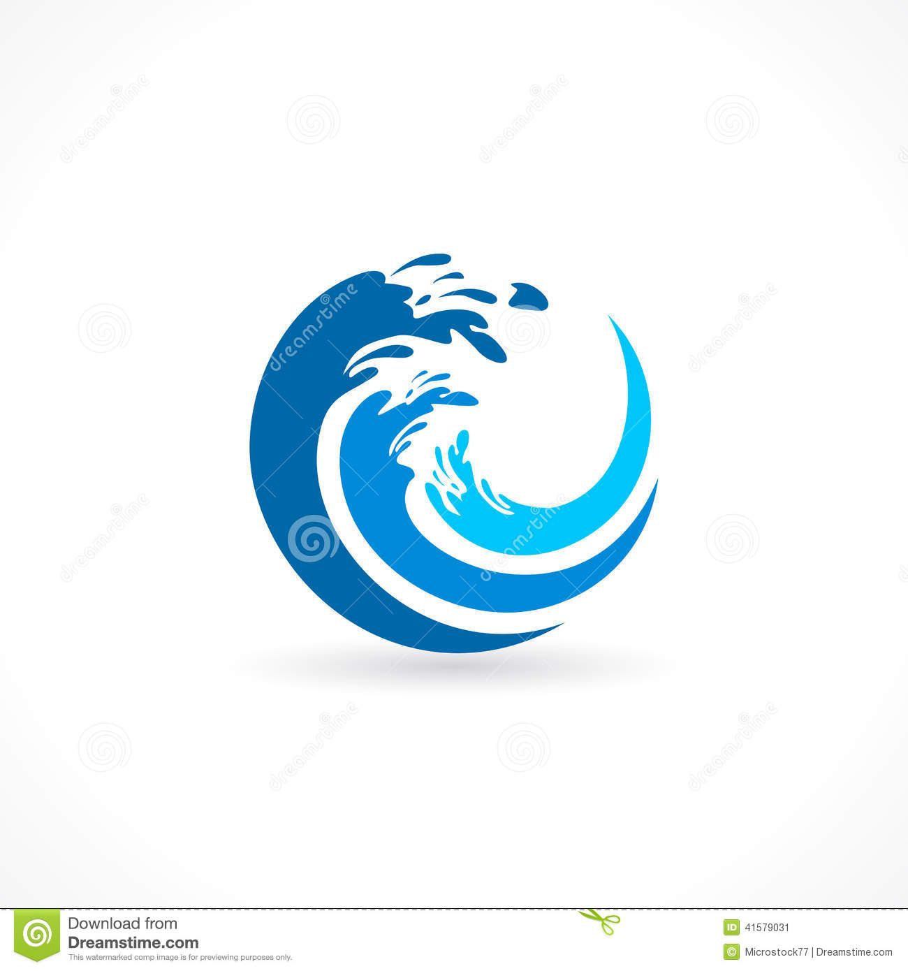 Water wave splash icon stock image ryans pool company - Blue ocean design ...