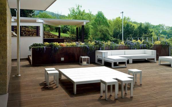 Italienische Fliesen Holzoptik Terrasse Iris Ceramica Garten