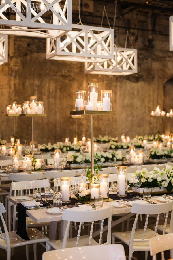 Rustic Industrial Wedding Ideas | Wedding tables, Centerpieces and ...