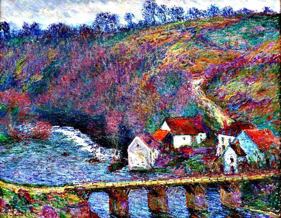 The Grande Creuse by the Bridge at Vervy, Claude Monet