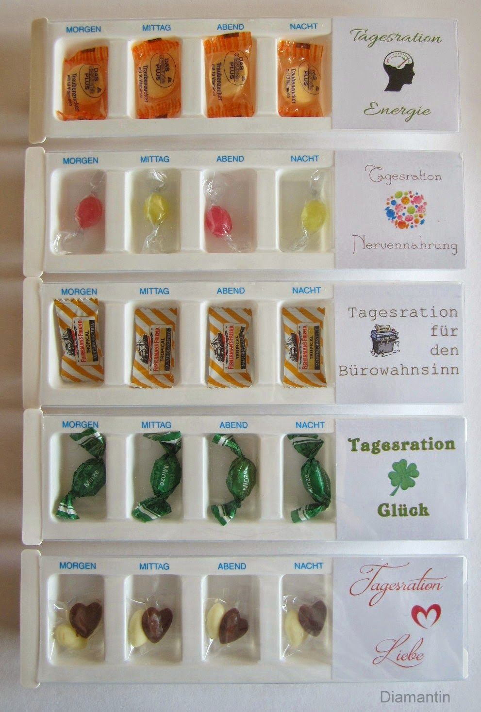 Tagesrationen Ideen Gifts Diy Gifts Und Little Gifts