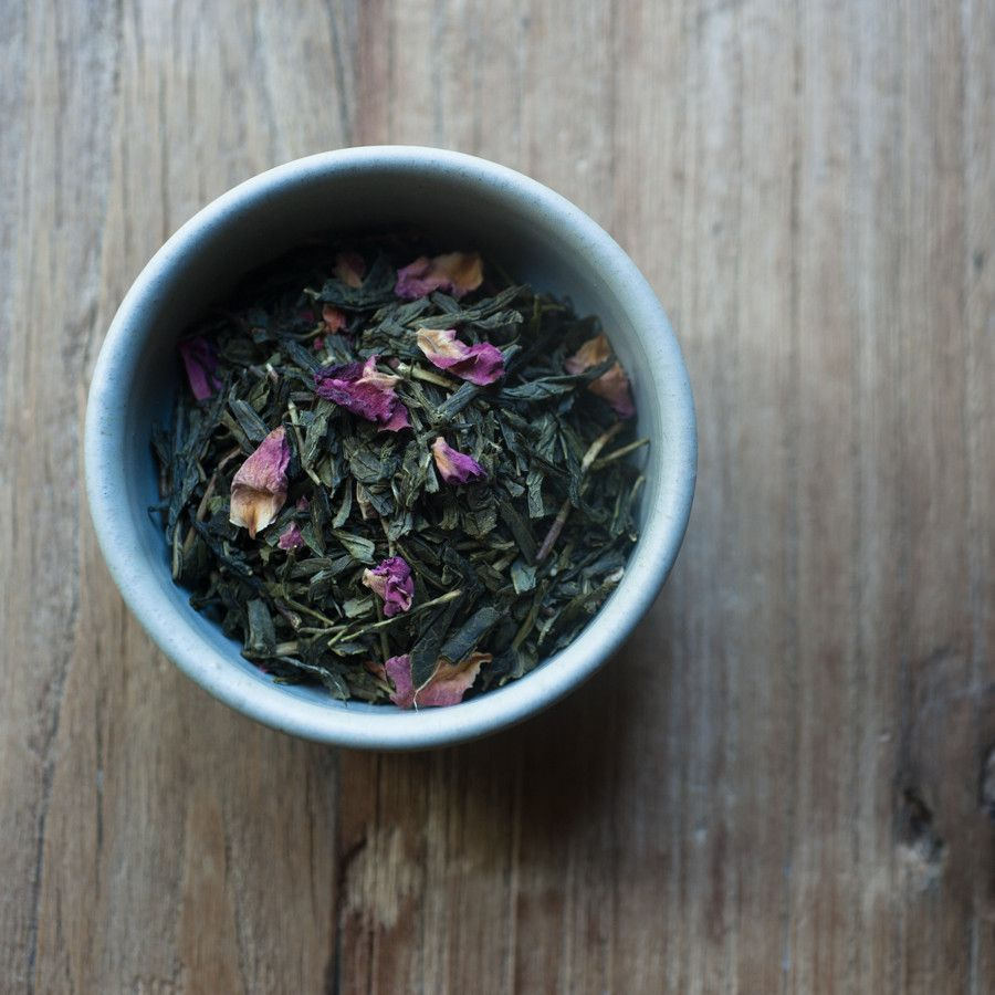 The finest Chinese Sencha green tea leaves are blended