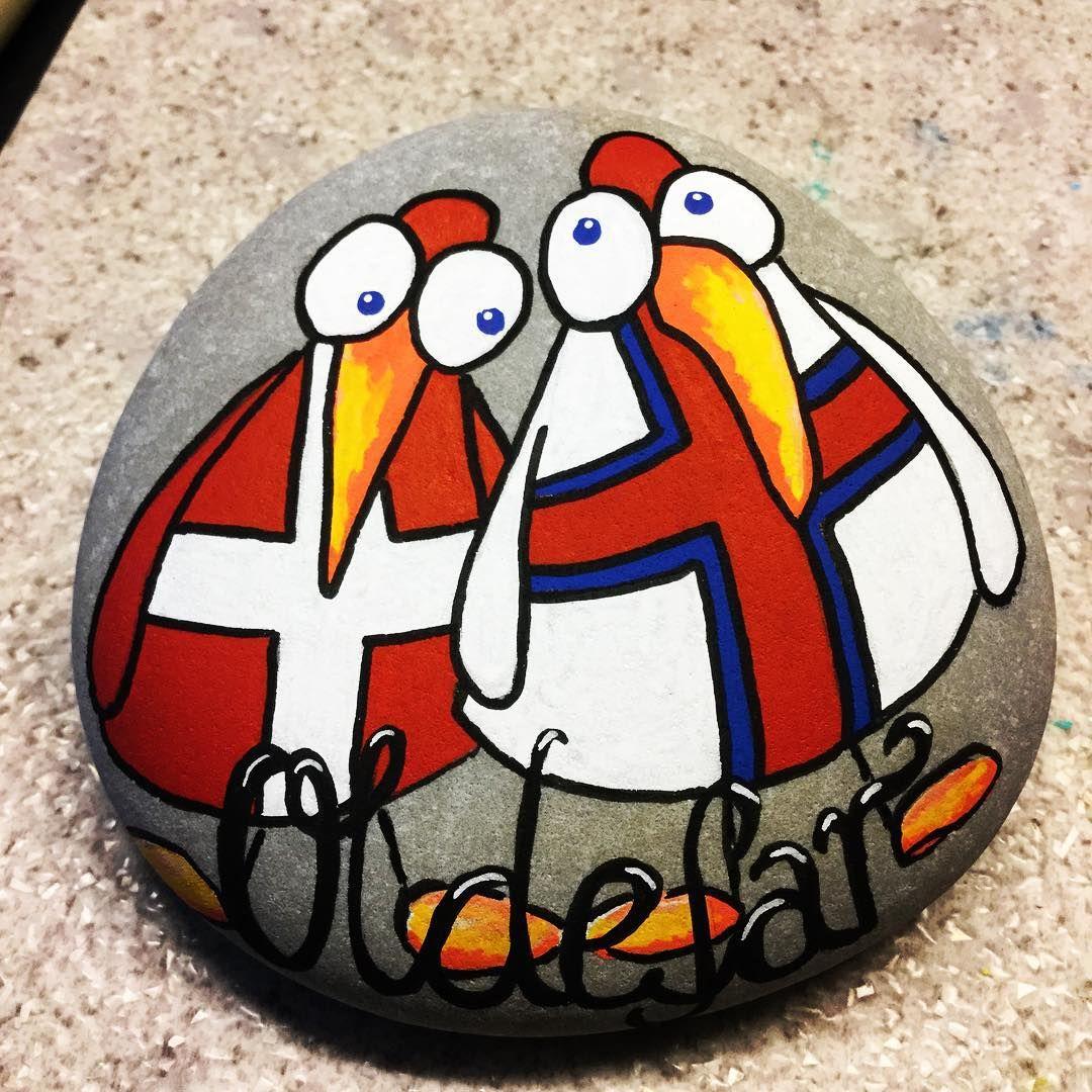 #malpåsten#sten#stenelene#paintedstones#stones#rockpainting#justforfun#denmark#faeroeislands#birds