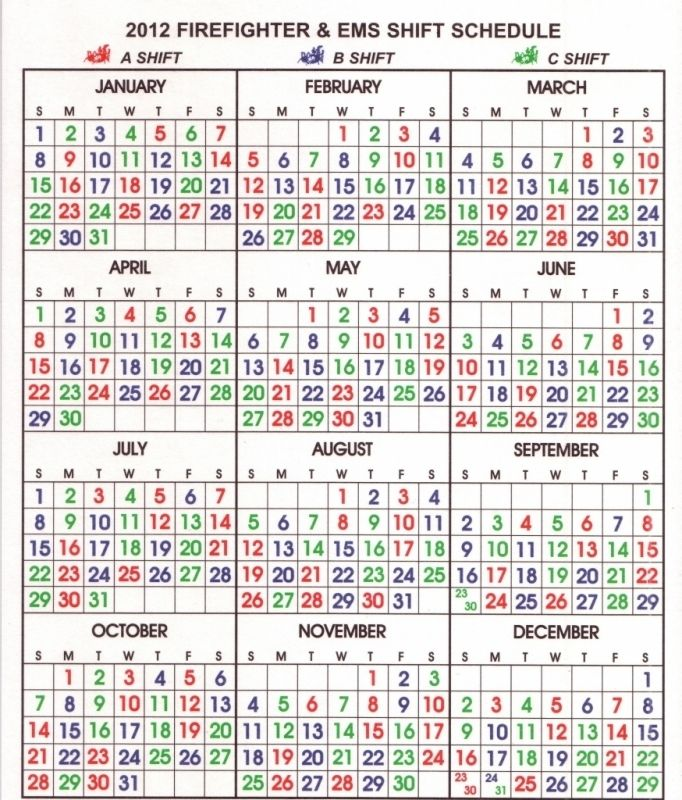 Shift Calendar Templates Free Calendar Template With Images