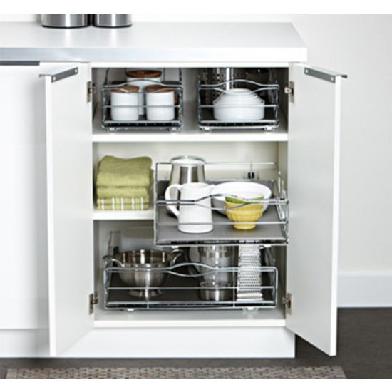 The Simplehuman 20 Inch Wide Cabinet Organizer Has An Extra Large Capacity For Storing Cabinets Organization Kitchen Cabinet Organization Kitchen Organization