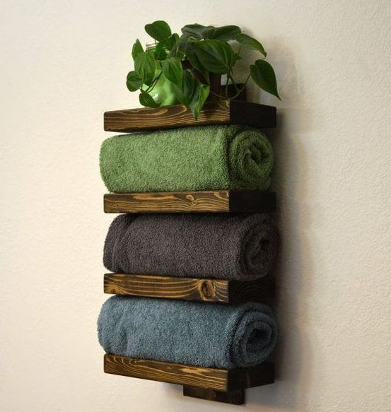 18 DIY Towel Storage Ideas To Easily Organize The Bathroom , #Bathroom #DIY #Easily #Ideas #...