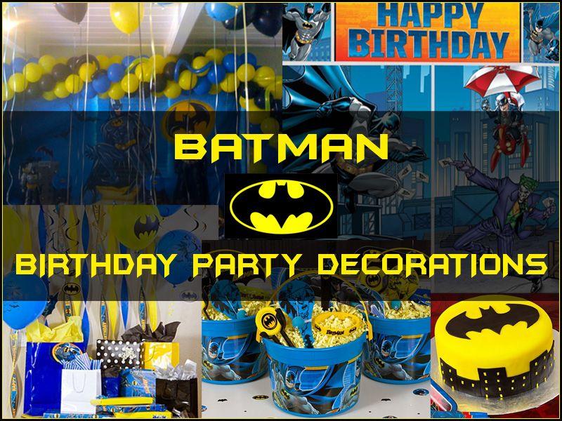 Batman Birthday Party Decorations Stuff to Buy Pinterest