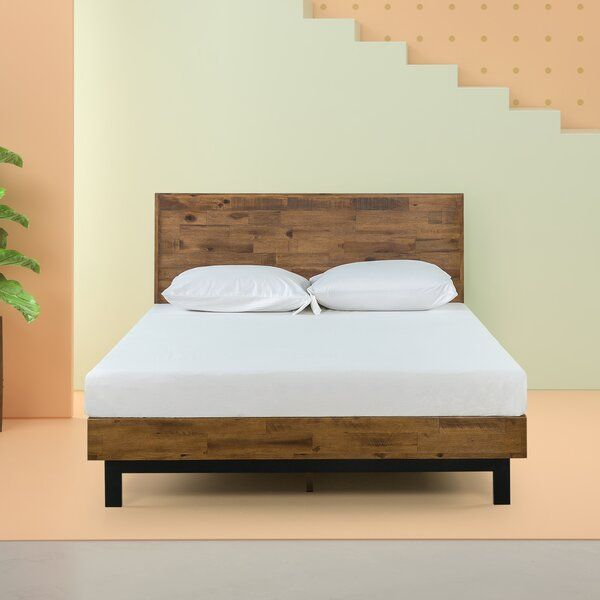 Renew Your Bedroom With This Tricia Platform Bed By Zinus Wood Finished Headboard And Frame With Met Contemporary Bed Frame Wood Platform Bed Contemporary Bed