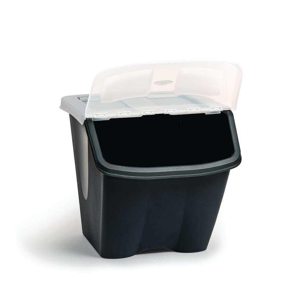 38ltr Shutter Bin Storage Bin 7316 The Home Depot In 2020 Plastic Storage Totes Tote Storage Storage Bins