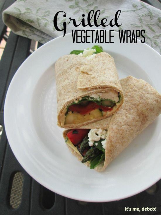 Grilled Vegetable Wraps - It's me, debcb!